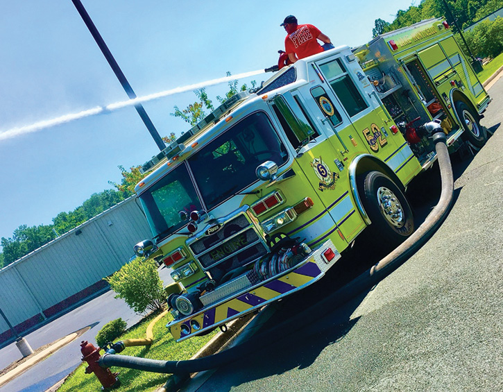 This maneuver allows the rigs to stay close to the curb while providing superior flow capabilities.