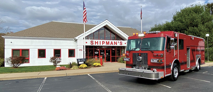 Shipman's Fire Equipment, located in Waterford, Connecticut, just off of two major interstate highways, has been appointed the authorized dealer for Sutphen in Connecticut, Massachusetts, and Rhode Island.