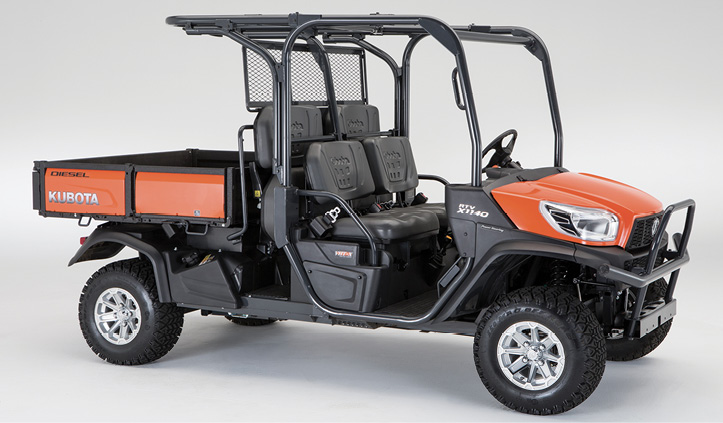 The RTV-X1140 UTV made by Kubota Tractor Corp. is the company's most popular model fire departments choose for rescue and EMS functions.