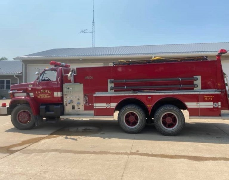 La Motte (IA) Fire Department Raising Funds to Replace Decades-Old Tanker
