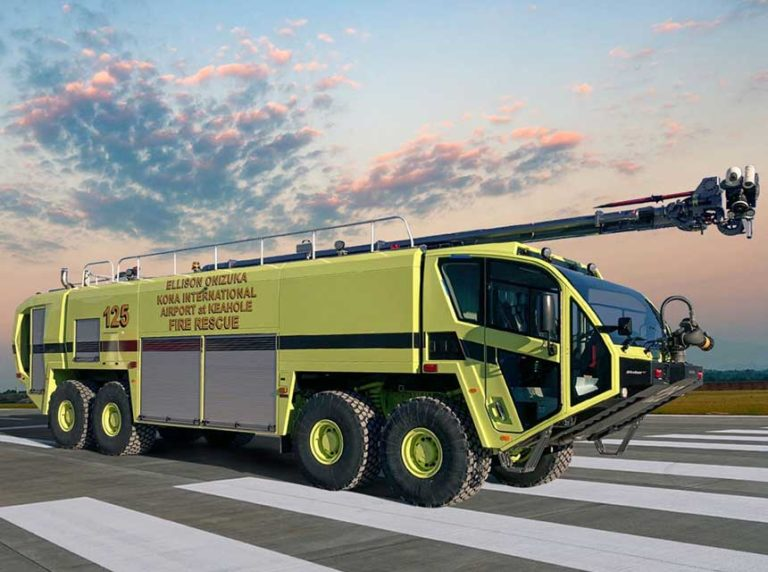 HI Airports Take Delivery of Eight Oshkosh Airport Products Striker ARFF Vehicles