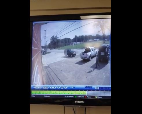VIDEO: SUV Hits Three Vehicles in Front of Warren Township (OH) Fire Station