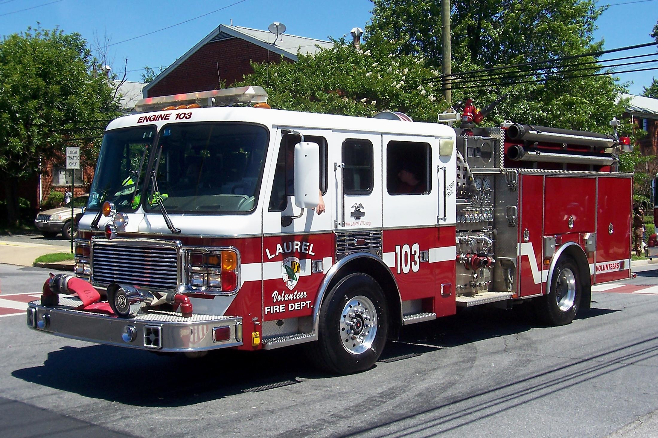 Laurel fire engine