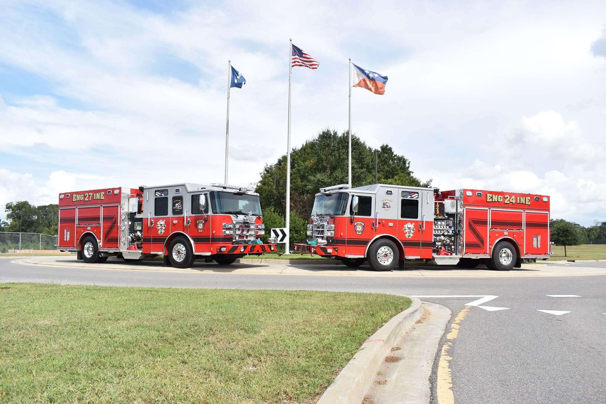 Broussard (LA) Fire Department Dedicates Two New Trucks to Fallen Heroes