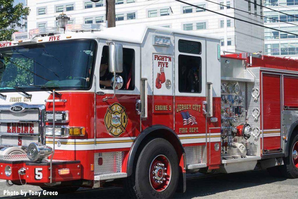 Jersey City Fire Department fire engine