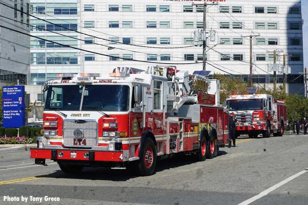 Jersey City fire apparatus at parade