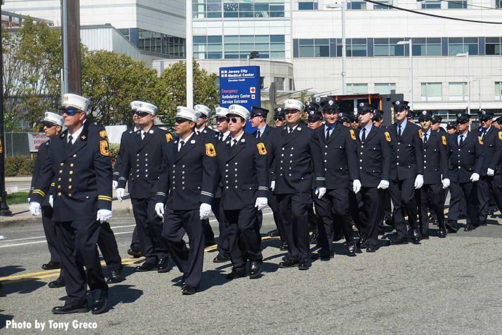 Jersey City firefighters on parade