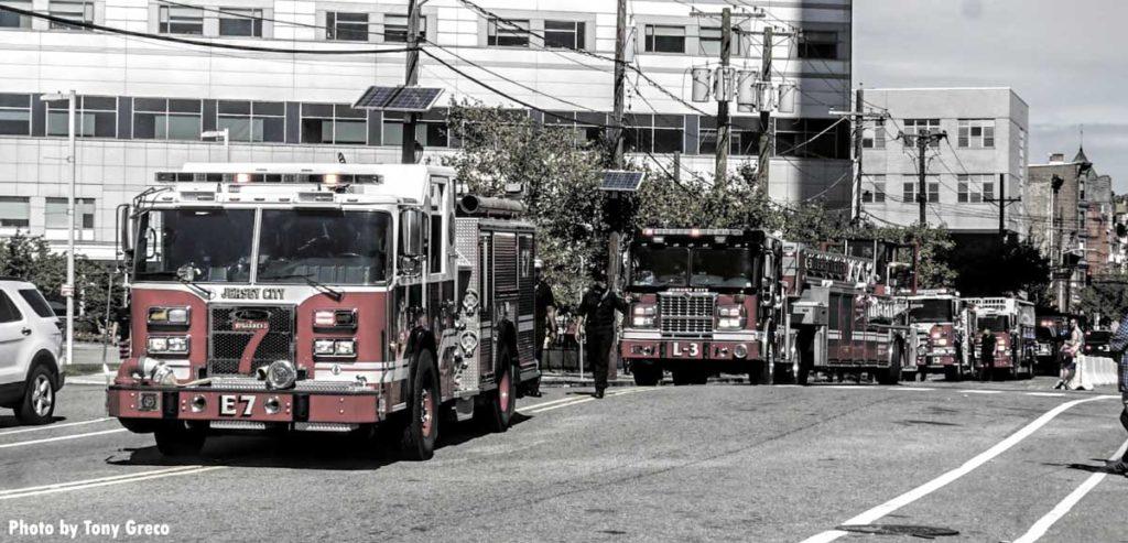 Jersey City Fire Department fire truck parade