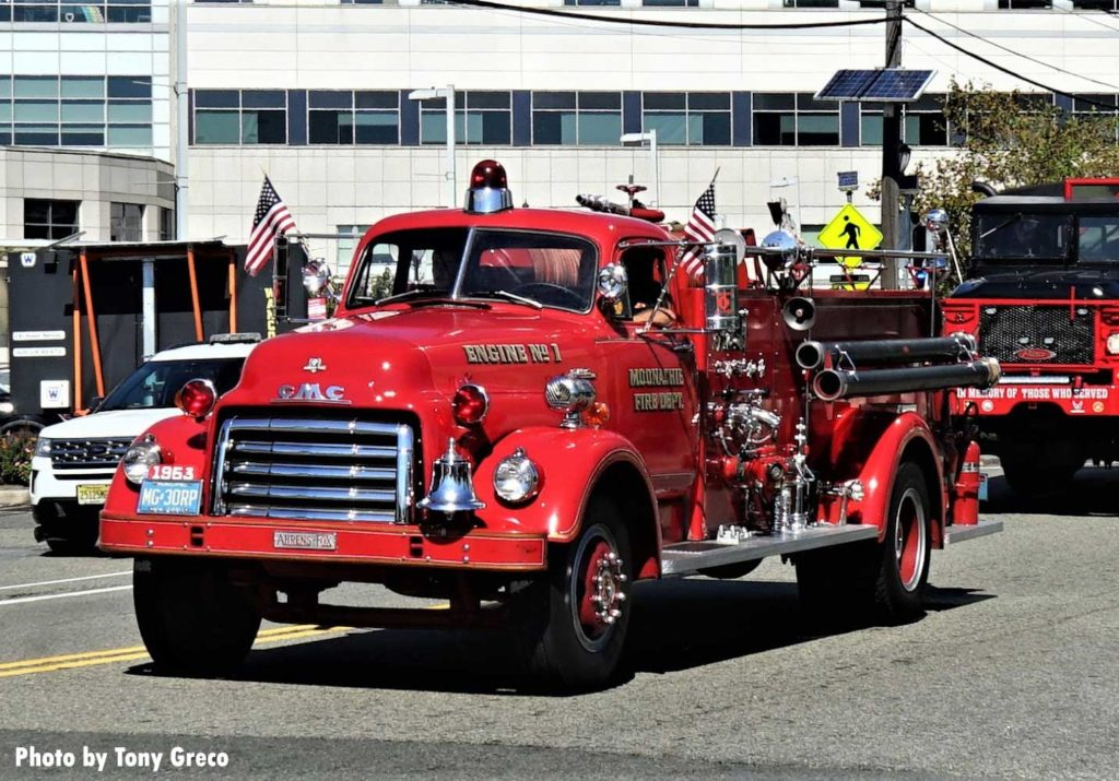 Antique fire truck from Moonachie, New Jersey