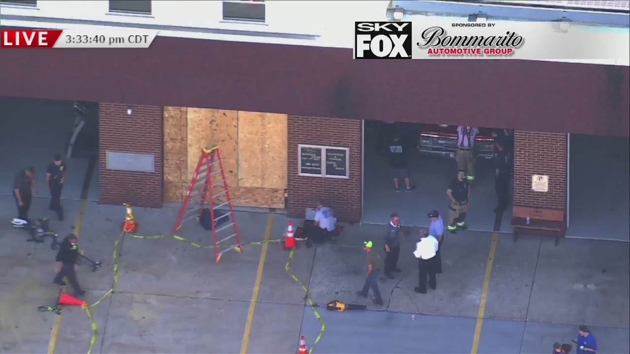 Fire Truck Hits DeSoto (MO) Fire Station