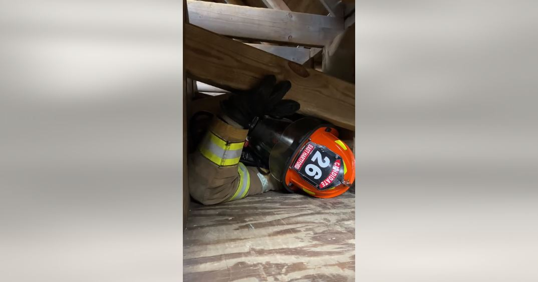 VIDEO: Connecticut Fire Academy Recruits Meet 'The Weeper,' a Structural Collapse Training Prop